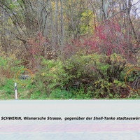 Sehr gut im Gebüsch versteckt, genau gegenüber der Shell-Tankstelle in der Wismarschen Strasse, für beide Fahrtrichtungen wird mit ES 3.0 gemessen und geblitzt...