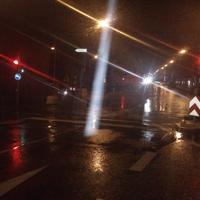 Bild 1: Haupstraße Richtung Böblingen, Blitzer auf der linken Seite. Bild 2: Blitzer hinter der Absperrung Bild 3: Blickrichtung Aidlingen von der Albert-Schweizer-Str. Bild 4: Blickrichtung Aidlingen von der Albert-Schweizer-Str.