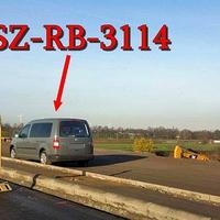 Der Blitzer auf der Industriestraße Nord (VW Werk SZ) Richtung SZ Lebenstedt. Grauer VW Caddy Maxi (SZ-RB-3114), in der Baustelle, wo aktuell 30 kmh ist.