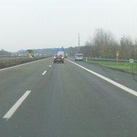 Gemessen wird in der Überleitung zur A67 FR Frankfurt. Sauber beim Aufbau erwischt...