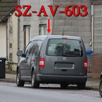 Blitzer auf der B 248, am OA SZ Immendorf Richtung SZ Thiede. Der graue VW Caddy Maxi (SZ-AV-603). 50 kmh.
