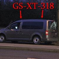 Sackring, zwischen Bushaltestelle Kälberwiese und der Araltankstelle, auf der rechten Seite in dem Parkstreifen, steht der graue VW Caddy Maxi (GS-XT-318). 50 kmh. Fahrtrichtung Cyriaksring/ Weststadt. 50 kmh.