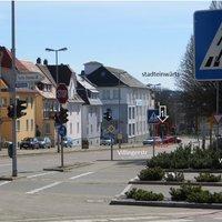 VS-Schwenningen Villingerstraße; Ecke: Kreuzstr.  stadteinwärts