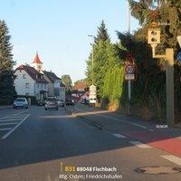 Fischbach Meersburger Str.  Eck: Ziegelstr FRtg. Osten; Friedrichshafen. ID 3439