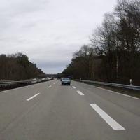 Heute wurden nur die linken Spuren in beiden Richtungen gemessen, hier in Fahrtrichtung Hamburg.