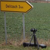 An der Einmündung Brodau der B184 hinter Delitzsch (70km/h)