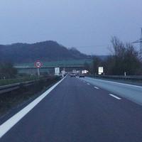 A70 Richtung Bamberg, Baustelle, einspurig