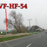 In der Senke zwischen Hessen und dem Abzweig Rohrsheim, beidseitig. 100 kmh erlaubt, zu der ESO Anlage gehört ein blauer VW T5 (WF-HF-54).