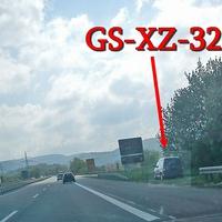 von der A 395 Dreieck Vienenburg in Richtung B 4 Bad Harzburg, an der Abfahrt B 6 Richtung Goslar Stadt. Grauer VW Caddy (GS-XZ-32). 100 kmh.