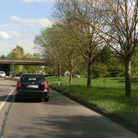 Lasermessung unter der Brücke Schorndorfer Straße von Endersbach kommend FR Waiblingen, @60, im Moment des Fotos (aus Gegenrichtung) wurde Feierabend gemacht.