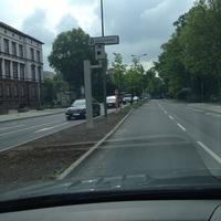 Neuer fest installierter Blitzer der Stadt Giessen auf der Ostanlage in südlicher Fahrtrichtung kurz nach der Ecke Landgrafenstr.