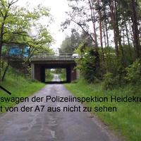 Messung durch die Polizeiinspektion Heidekreis vor dem Unfallträchtigen Walsroder Dreieck, bekannte aber von der Polizei (bisher) selten aufgesuchte Messstelle.