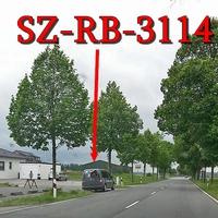 Der graue VW Caddy Maxi (SZ-RB-3114), blitzt gegenseitig am OA SZ Lichtenberg ( Alte Heerstraße) Richtung A 39 / SZ Osterlinde. 50 kmh.