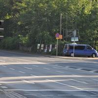 in stadtauswärtiger Richtung am Abzweig Hammerweg