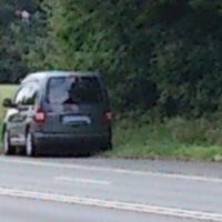 VW Caddy grau silber Metallic