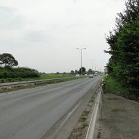 einwärts fahrend auf der B4 hinter der Feuerwache Erfurt! Stand gut zu sehen, der Messwagen der Polizei stand rechts neben der Brücke (WAK QR 43)