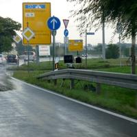 B93 Richtung Altenburg Höhe Imbiß in Zschaschelwitz.