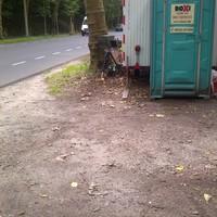 Die Mess- und Fotoeinheit. Ein Zusatzblitz war nicht aufgebaut. Messfahrzeug stand im angrenzenden Waldweg.
