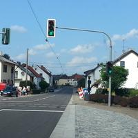 Übersicht der Meßstelle aus Richtung Eiweiler kommend.