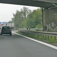 Blitzer auf der A 391 Richtung Salzgitter unter der Brücke im Kreuz Ölper. 80 kmh.