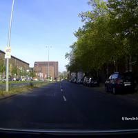Anfahrt zur Meßstelle, Beginn der 40 km/h Zone aus Umweltschutzgründen