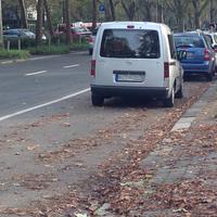 Gemessen wird aus einem silbernen Opel Combo in Fahrtrichtung Hauptbahnhof. Grund  der Messung ist ein Kindergarten (direkt rechts des Messfahrzeuges). Diese Messstelle ist relativ häufig genutzt, oftmals auch einige Meter vor diesem Messpunkt, etwa auf Höhe der Rhein-Main Hallen