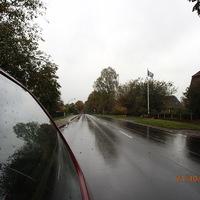 Der feste und drehbare Blitzer in Aspe in Fahrtrichtung Bremervörde gesehen