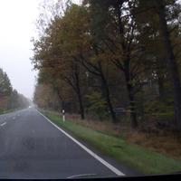"""Heute mal wieder auf der B3 in Richtung Heber, Kontrollstelle schwer zu sehen. Kamera steht wie immer direkt vor dem Leitpfosten, der Blitz halb in der Einfahrt und der bekannte Tiguan (wie soll es anders sein) hinter dem """"Durchfahrt verboten"""" Schild. Ich sag nur Verkehrserziehung."""