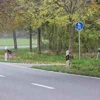 Blitzer zwischen Vallstedt und Alvesse, beide Richtungen, im Kurvenbereich. 70 kmh. ESO Anlage.