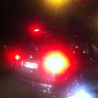 hier nur auf der Durchreise: VW Sharan (HH-CJ2982, vermutl. Wechselkennzeichen) mit PoliScanSpeed mobil im Kofferraum