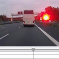Bus wird geblitzt