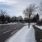 Bedingt durch Fahrbahnbreite und das hohe Verkehrs- und Schneeaufkommen ist eine Wiedergabe der Autofahrer-Perspektive nur bedingt möglich. Aufnahmedatum: 02.01.2015.
