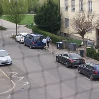 Die Polizei baut gerade ab.