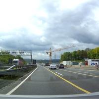 A45, Dortmund Richtung Köln. An der Baustelle, Lennetalbrücke kurz vor dem Kreuz Hagen.