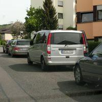 Winnenden, Hanweiler Straße, 30 Zone, Silberner Vito WN-AS7705