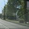 ESO Lichtschranke kaum sichtbar im Gebüsch versteckt, Ortseinwärts vor der Arnoldbrückr 50m später als sonst. Der Messbus steht im Schatten neben der Brücke
