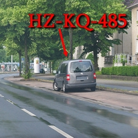 Mal wieder, dunkelgrauer VW Caddy Maxi , mal wieder anderes Kennzeichen (selber Wagen HZ-KQ-485), steht wieder auf der Münchenstraße, auf der rechten Seite kurz nach der Haltestelle Emsstraße. 50 kmh. Richtung Weststadt.