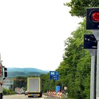 A45 kurz vor Lennetal-Brücke