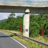 Auf der B 82 Goslar, Richtung Seesen, an der Fußgänger Brücke, höhe Langelsheim / Fa. Chemetall. 80 kmh.
