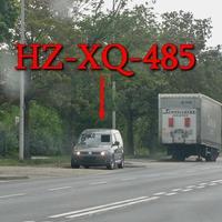Wie eh und jeh auf der Hansestraße, stadtauswärts. Bei der Spedition Schnellecke, auf der rechten Seite auf dem Parkstreifen. Grauer VW Caddy Maxi mal wieder mit einem anderen Kennzeichen Gähhnnn!!! (HZ-XQ-485), 50 kmh.