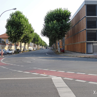 Wir fahren vom Margaretendamm in Richtung Hallstadter Straße. In beiden Straßen finden ebenfalls Gurt- und Handy-Kontrollen statt.