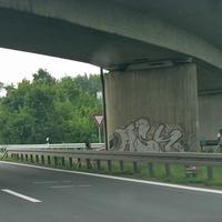 Blitzer auf der A 391 Richtung Salzgitter, unter der Brücke im Kreuz Ölper. 80 kmh.