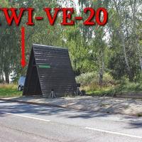 Blitzer am OA B 79 in Hessen, Richtung Halberstadt, am hölzernem Buswartehaus, kurz vor der Abknickenden Vorfahrt Richtung Dardesheim. 50 kmh. Vitronic Anlage auf Stativ am Wartehaus, dazu gehört ein schwarzer VW Caddy (HWI-VE-20).