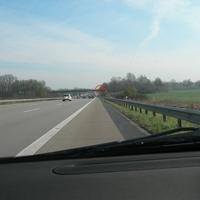 Mautkontrolle auf der A1 Richtung Lübeck zwischen Barsbüttel und Stapelfeld von der Brücke