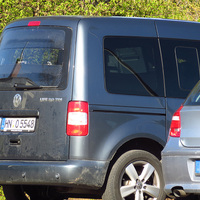 Der nur für in Richtung Würzburg Fahrende sichtbare Messwagen aus der Nähe