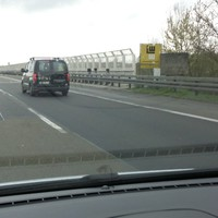 A6 FR Heilbronn zu Beginn der Kochertalbrücke, PSS @ 100 Km/h