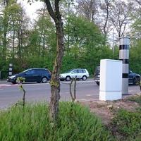 Camphauser Straße, in Höhe Saarlandhalle, in beide Richtungen (stadtein- und auswärts), Tempo 50