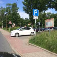 An Parkplatzschild