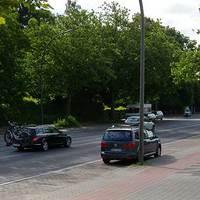 Geblitzt wird stadtauswärts (Richtung Horner Rennbahn). Orientierungspunkte: direkt an der Ein-/Ausfahrt von Budni und Dat Backhus.