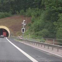 A70 vor dem Tunnel Schwarzer Berg FR Bamberg ESO Lichtschranke @80